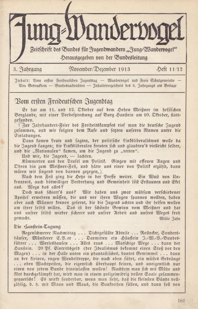 Jungwandervogel November/Dezember 1913