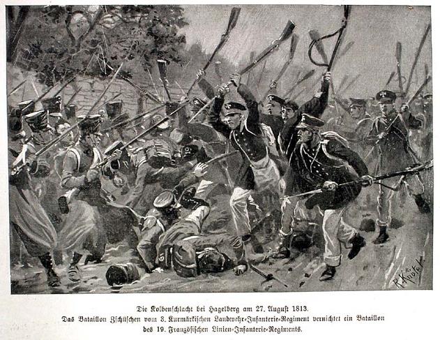 Kolbenschlacht am Hagelberg 1813
