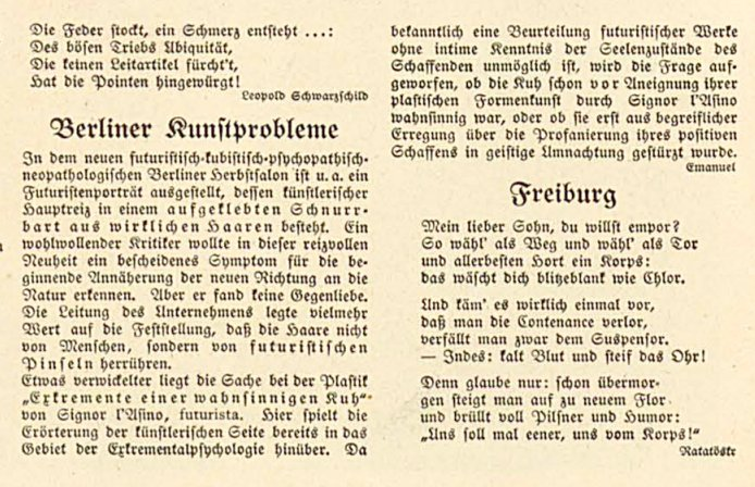 futuristisch-kubistisch-psychopathisch-neopathologischen Berliner Herbstsalon